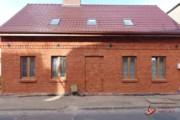 Renowacja ceglanego domu w Prabutach -w trakcie wykonywania prac